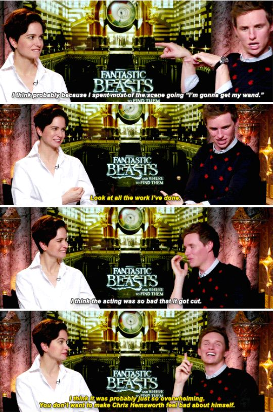 When he revealed that his shirtless scene was cut from Fantastic Beasts because he was too busy showing off his guns to focus on the acting. | 23 Times Eddie Redmayne Was A Gift We Didn't Deserve