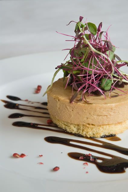 Whole Lobe Goose Foie Gras with Sakura Cress