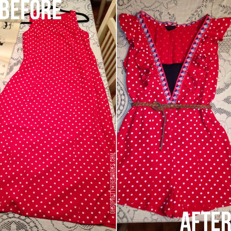 OH SO PRETTY the DIARIES: before and after: goodwill dress to a flirty romper