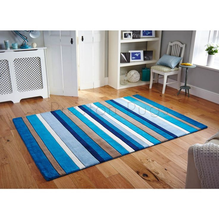 Jazz Modern Stripe Rug - Blue