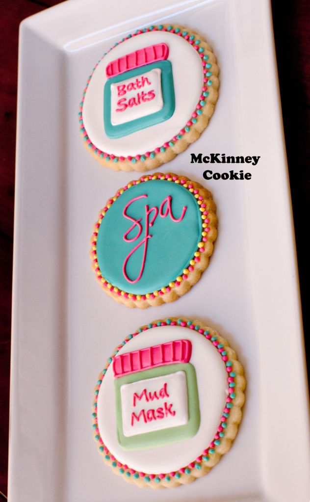 spa day cookies