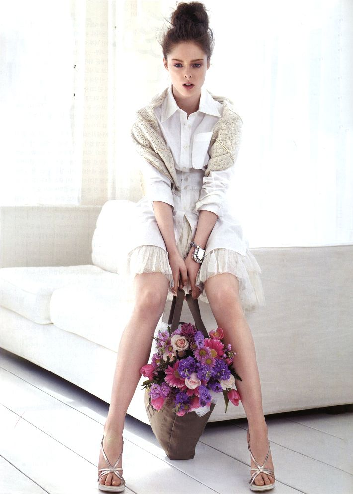 Coco Rocha wearing Louis Vuitton Spring/Summer 2007 photographed by Alex Cayley for Vogue Korea May 2007