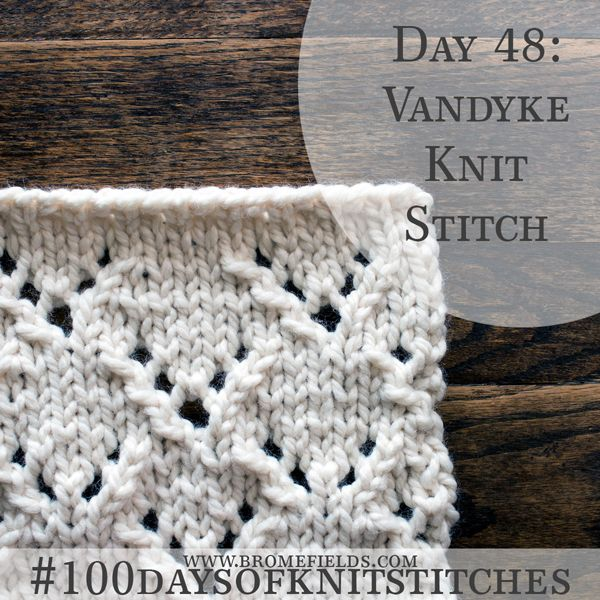 How to knit lace knit stitch, Vandyke +video