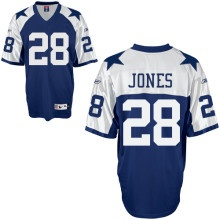 Felix Jones Jersey, Throwback #28 Dallas Cowboys Authentic NFL Jersey in Blue  Price :$20ID :4813