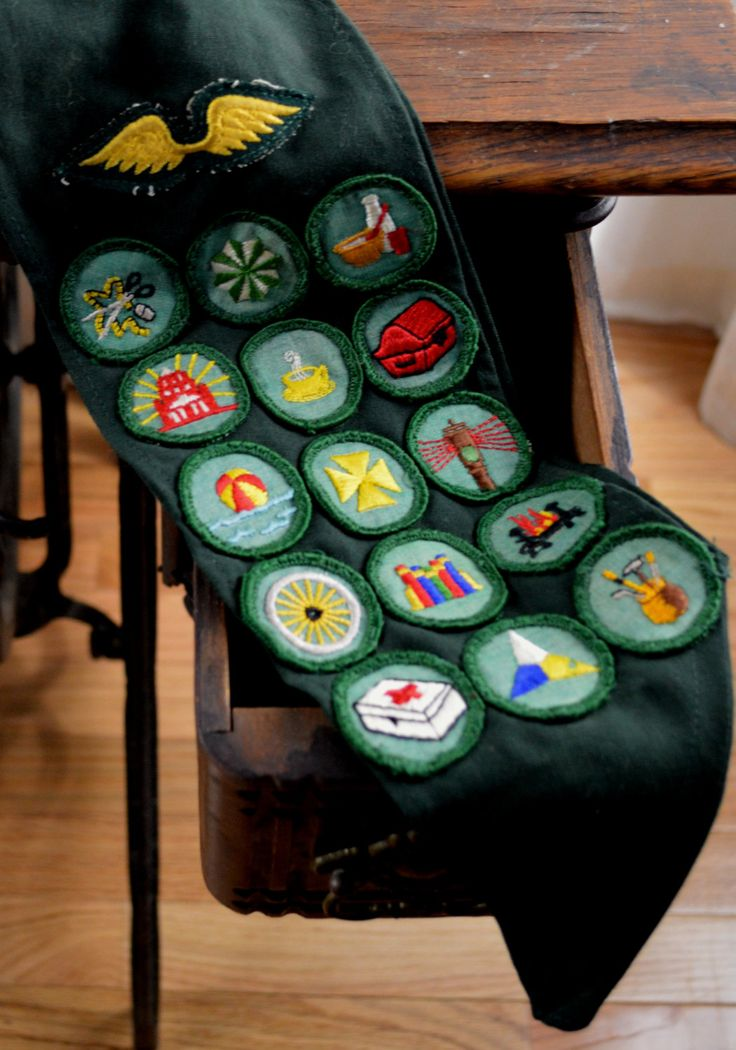 Vintage Girl Scout Banner, Girl Scout Badges, Girl Scout Pins,Girl Scout Sash, Girl Scout Cardinal, Collectors, Gift for Her, by BuffaloGalVintage on Etsy