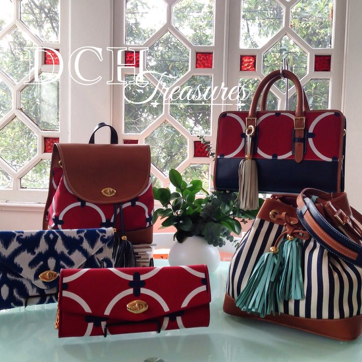Red & Navy DCH Treasures 2015 www.divinacastidadhandbags.com