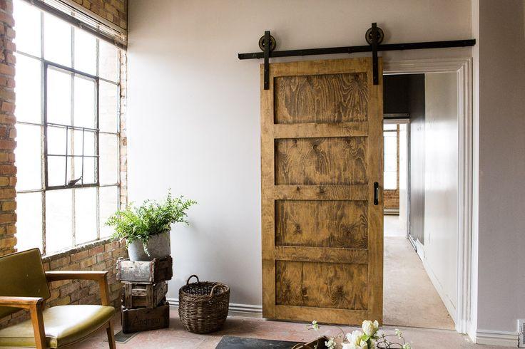 Black 6-8 FT Rustic Sliding Barn Door Closet Hardware Set FREE SHIPPING by TheWhiteShanty on Etsy