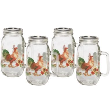 Glass Kitchen Jar Set