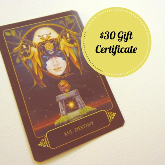 Want to give the perfect birthday gift to the metaphysical lover in your life? Buy one of these gift certificates for a psychic tarot or oracle card reading!
