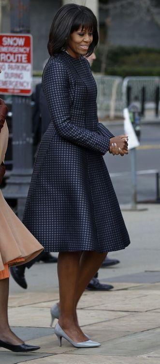 Mrs Obama looking fierce