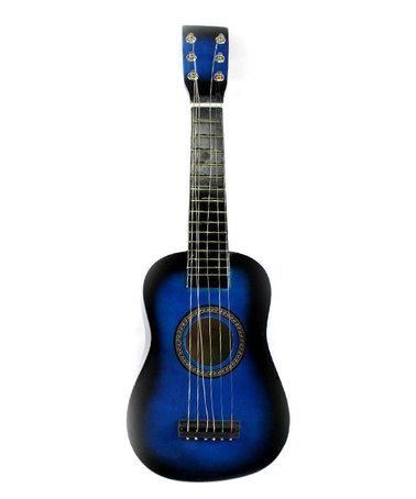 This Blue Classic Acoustic Beginners Guitar Set is perfect! #zulilyfinds