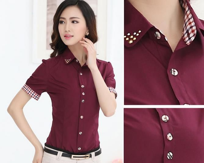 Find More Blouses Shirts Information About 2017 New Summer Women Office Shirt Business Attire Nail