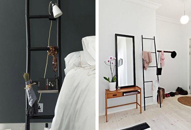 Decoratieve Houten, Een Ladder, Ladders Als, Houten Ladder ...