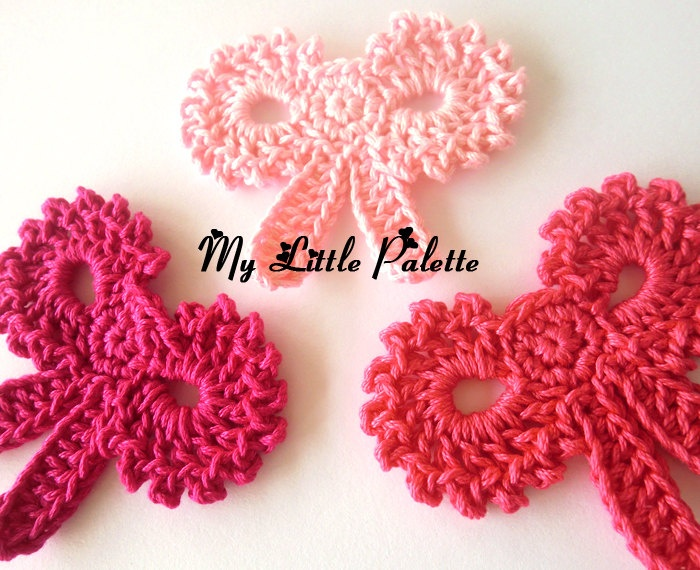 NEW-Crochet Ribbon-03 ( 3 pcs , via Etsy.