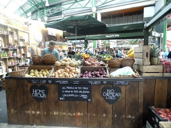 Borough Market stall - London