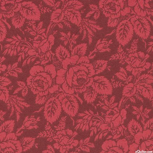 Tailor Made - Rosie Posies - Wine Red - FLANNEL