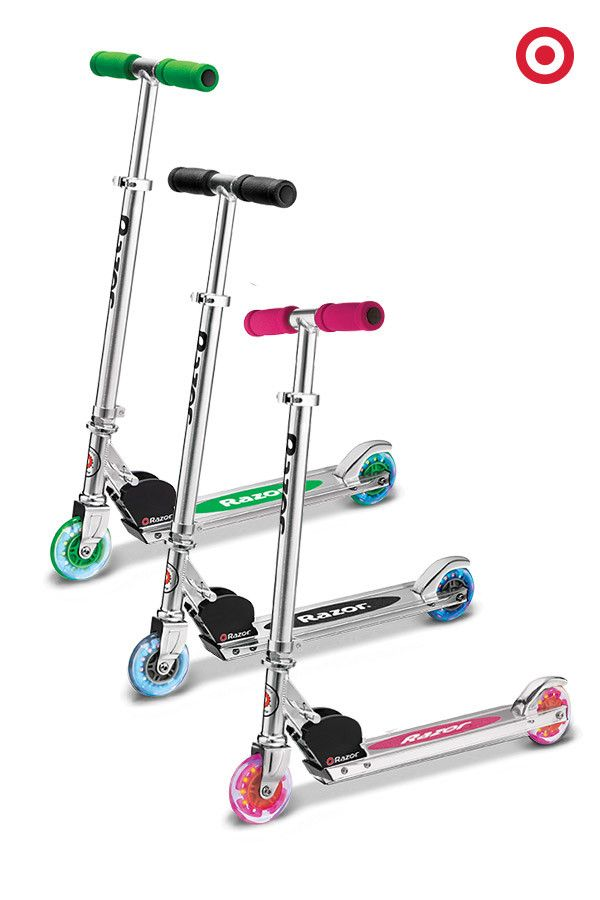 These classic A-model Razor scooters have wheels that light up as bright as a Christmas tree, a great gift idea for kids or college students with a cross-campus hike. (Psst! Target is the only place to catch a ride in these hot colors.)