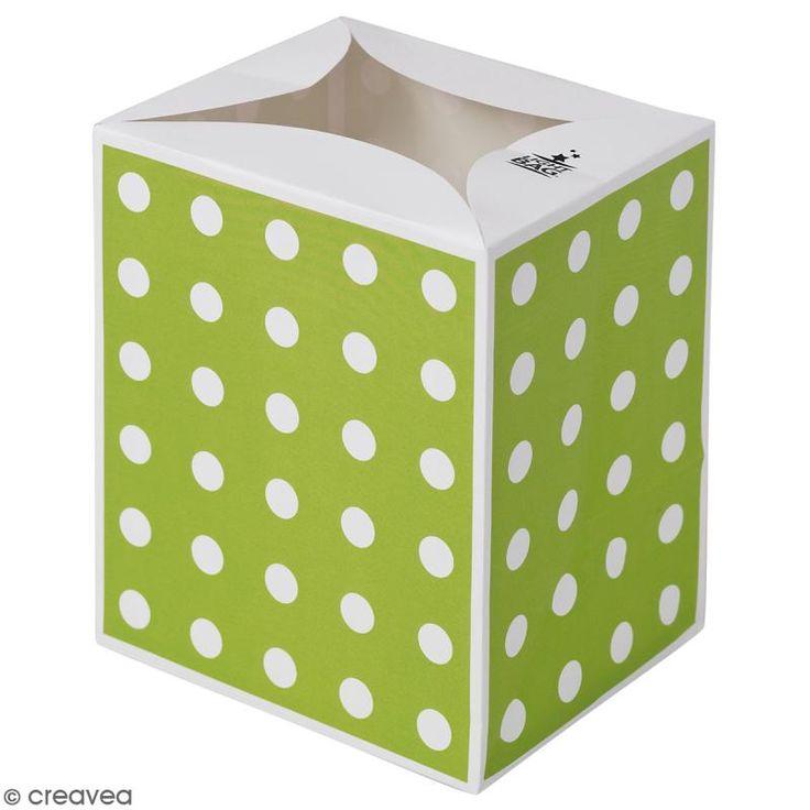 Compra nuestros productos a precios mini Farol de papel no inflamable - Lunares blancos fondo verde - Entrega rápida, gratuita a partir de 89 € !