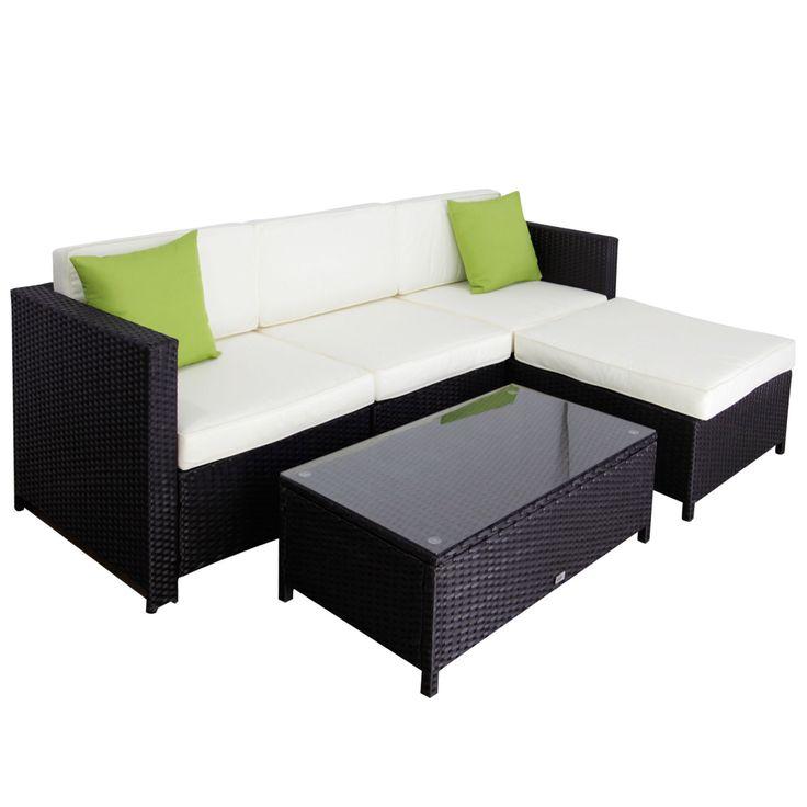 Kinbor 5pc Patio Sofa Set Rattan Wicker Outdoor Sectional
