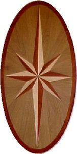 Hardwood Floor Medallion Yellowstone Oval 36""