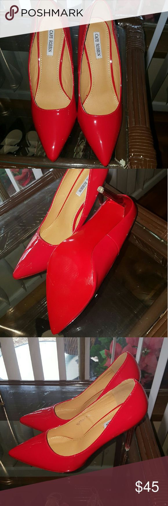Gorgeous red shoe with red bottom Fabulous all red everything  shoes even the bottom of the shoe is red yes sure would catch eye Shoes Heels