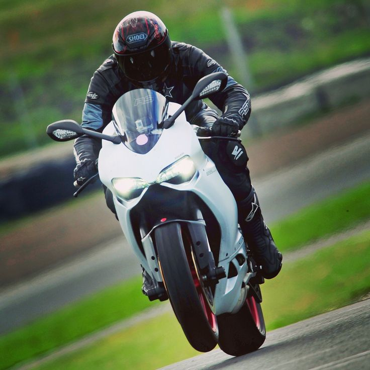 Little wheelie on the pit straight of Knockhill Circuit.