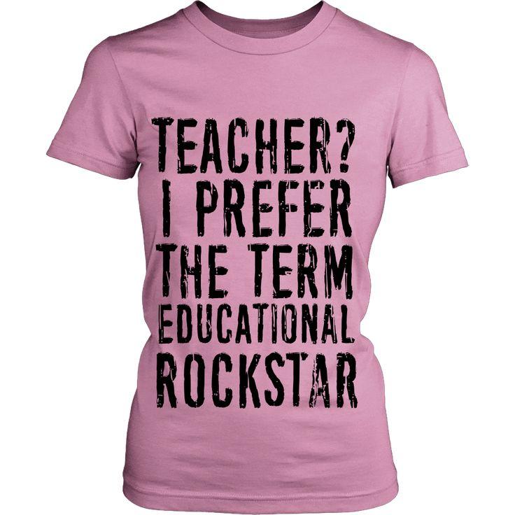 Educational Rockstar Teacher T Shirt (Black Logo)