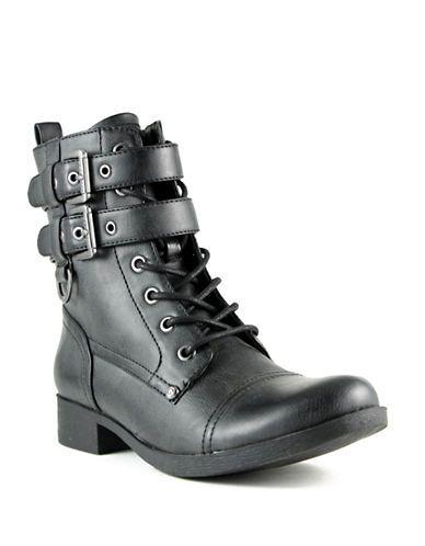Chaussures   Bottes   Botte de style militaire à brides enveloppantes Bell   La…