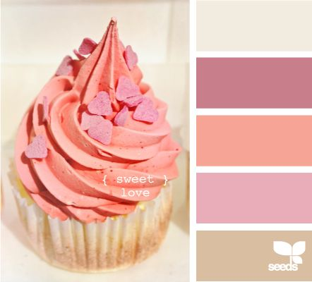 sweet love: Color Palettes, Color Inspiration, Design Seeds, Color Schemes, Color Combos, Sweet Love, Color Combinations, Girls Nurseries, Girls Rooms