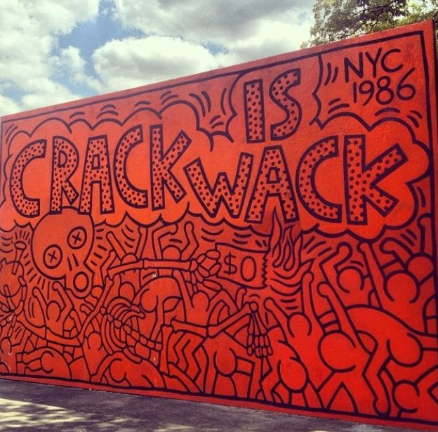 Crack is whack keith haring graffiti street art for Crack is wack mural