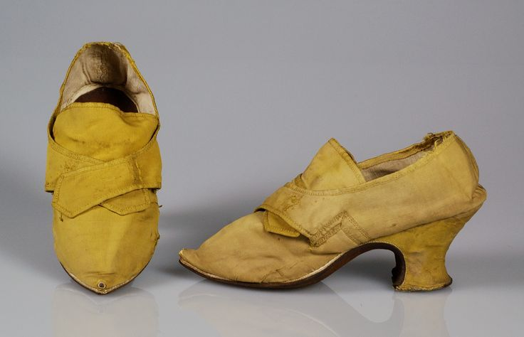 Yellow sild shoes, 1730–59. Brooklyn Museum Costume Collection at The Metropolitan Museum of Art.