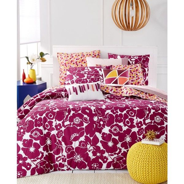 Martha Stewart Whim Collection Floral Fusions 5 Pc Full/Queen Comforter Set found on Polyvore featuring polyvore, home, bed & bath, bedding, comforters, fuchsia, martha stewart comforter sets, martha stewart bed linens, tropical bedding and martha stewart