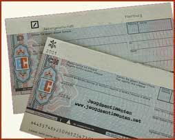 Eurocheque (van voor het pinnen) - bewri