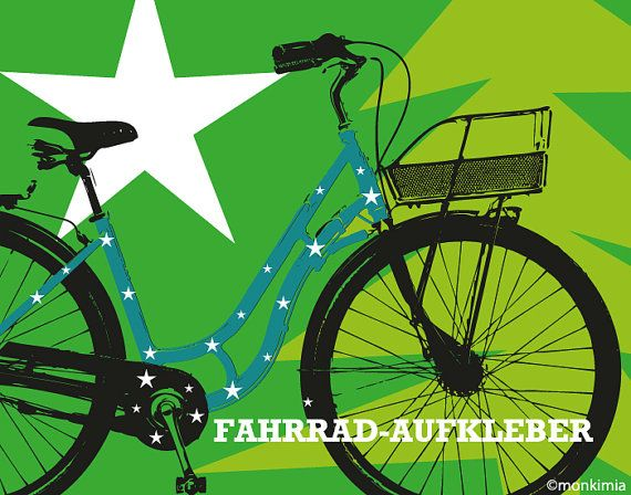 Fahrrad-Aufkleber Sterne 3 Größen