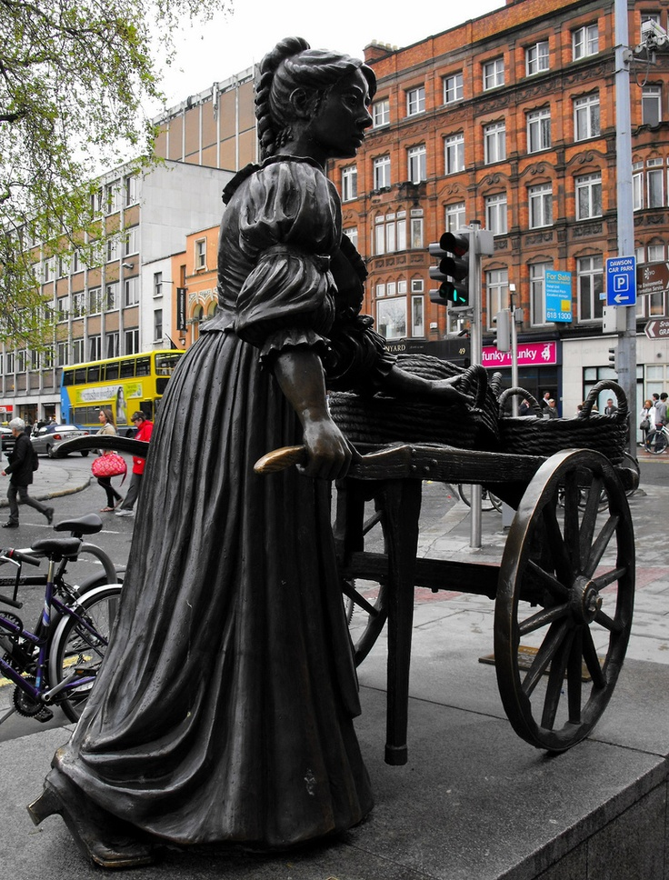 Molly Malone. Sculptor Jeanne Rynhart. Dublin, Ireland. I didn't take this picture but I did see the sculpture and my camera died. Nice to see it here.