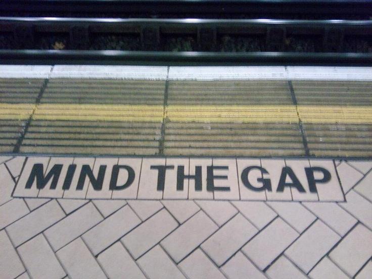 mind gap, london underground
