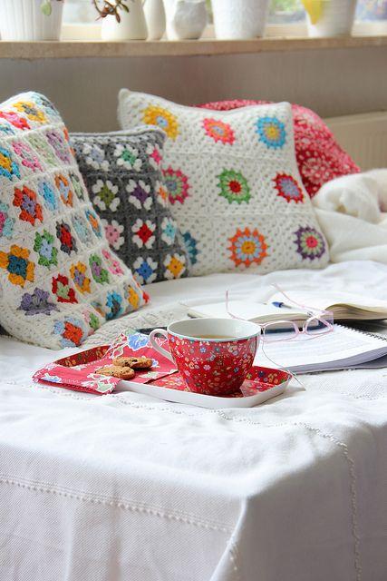 Granny Square Cushions