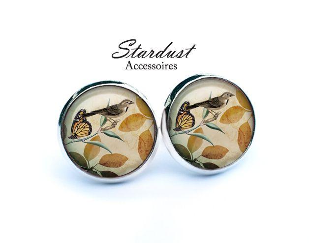 Ohrstecker silber ✿ Sperling ✿ von Stardust Accessoires auf DaWanda.com