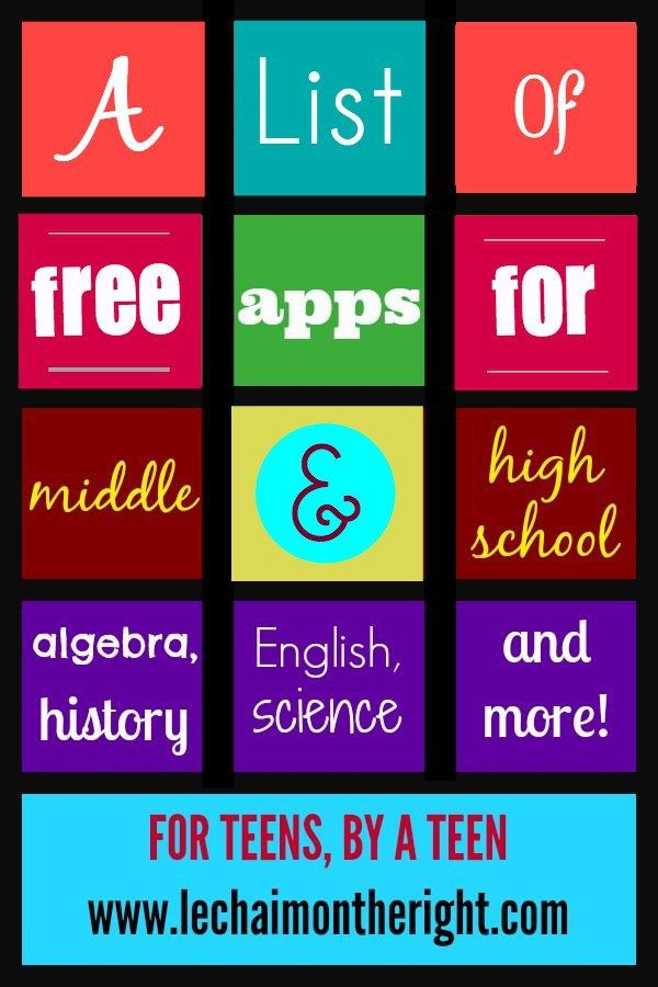 Free Apps for Middle & High School
