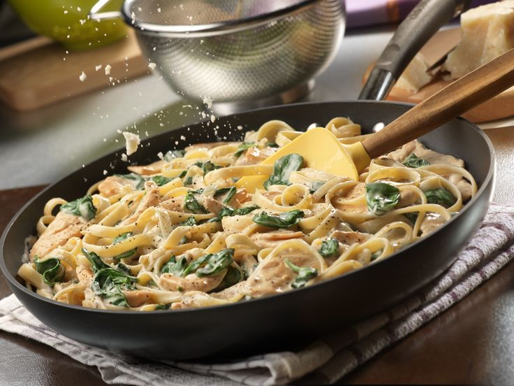 how to cook baby spinach with pasta