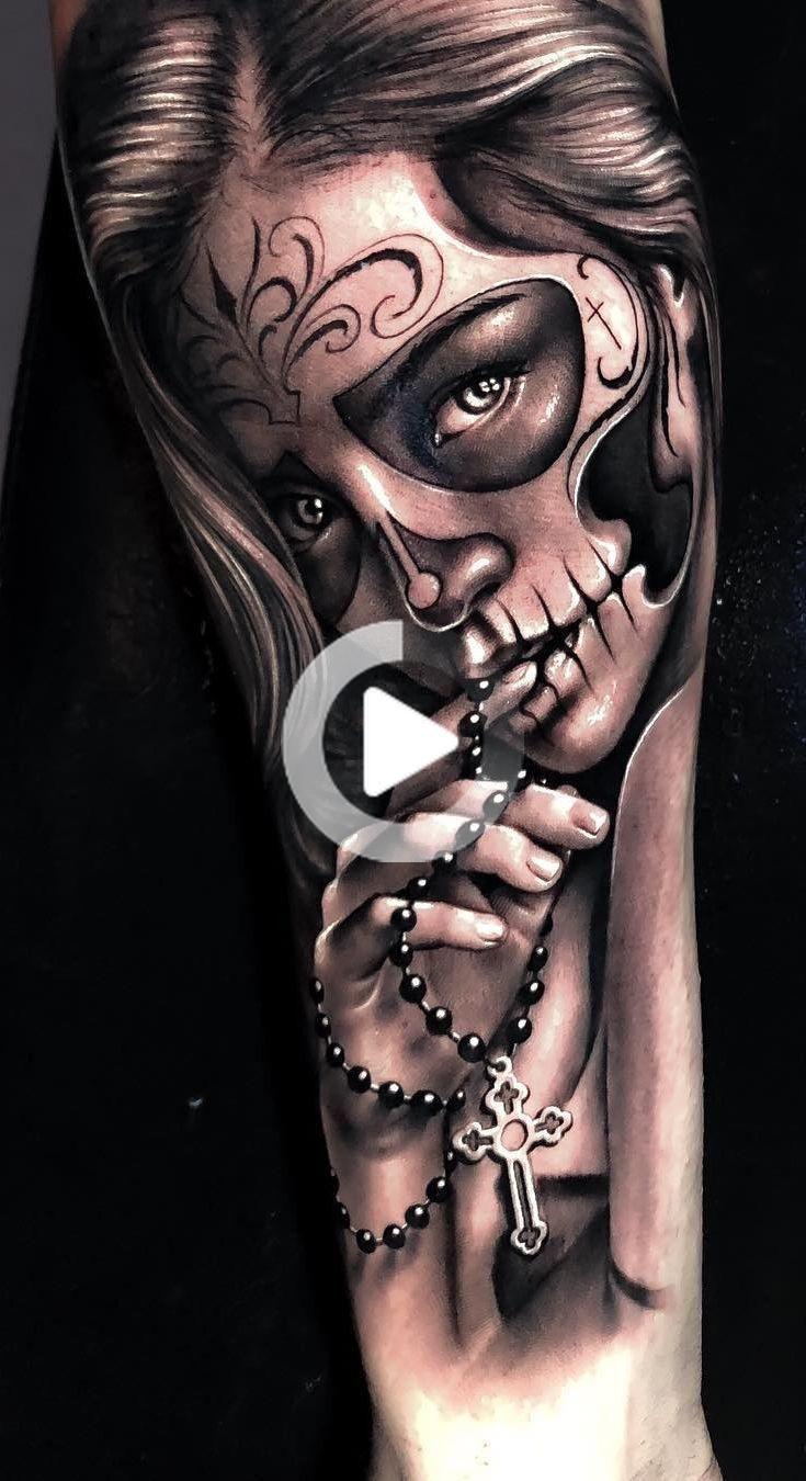 Celebrez La Vie Et La Mort Avec Ces Impressionnants Tatouages Du Jour Des Morts Day Of The Dead Girl Tattoo Day Of The Dead Tattoo Sleeve Skull Girl Tattoo