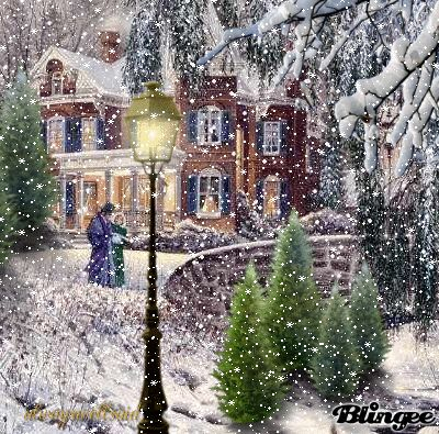 Beautiful Evening Walk In The Snow