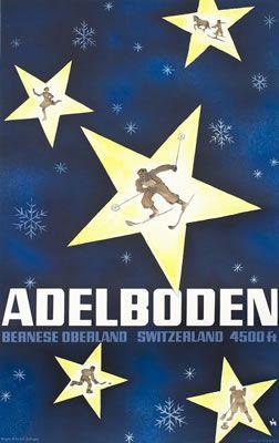 Alex Walter Diggelmann poster: Adelboden