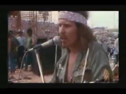 WOODSTOCK 1969.                                                                      NEXT STOP IS VIET NAM   Country Joe And The Fish