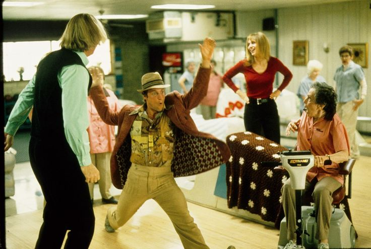 Still of Woody Harrelson, Randy Quaid and Vanessa Angel in Kingpin (1996)