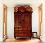 gorgeous armoire and baskets