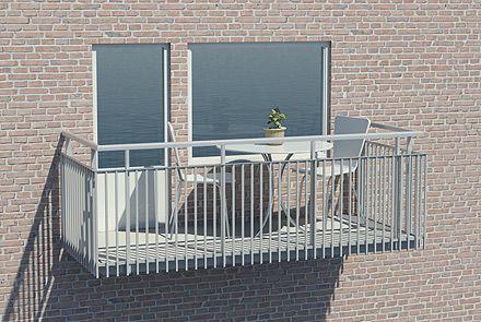 Balkongräcke med rörprofiler - Hogstad Aluminium AB