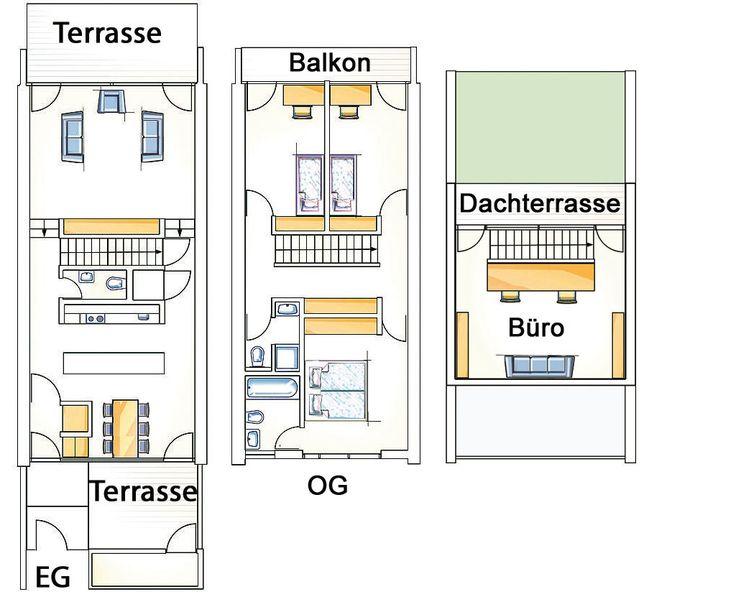 die besten 25 reihenhaus grundriss ideen auf pinterest etagenpl ne haus hausbau pl ne und. Black Bedroom Furniture Sets. Home Design Ideas