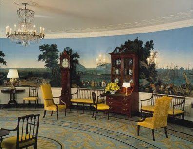 295 best wallpaper images on pinterest for Mural room white house