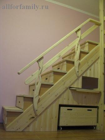 двухъярусная кровать из дерева своими руками: лестница